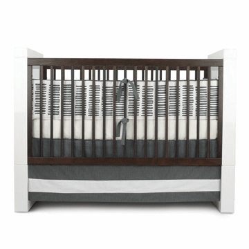 Oilo Sticks 3 Piece Crib Bedding Set in Pewter