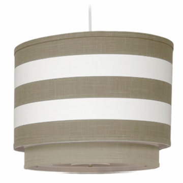 Oilo Stripe Double Cylinder Light in Taupe