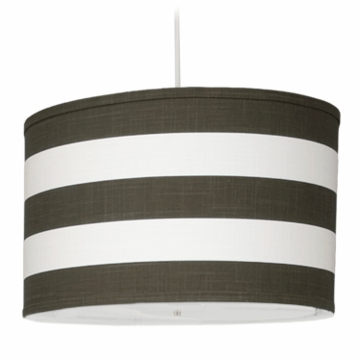 Oilo Stripe Large Cylinder Light in Brown