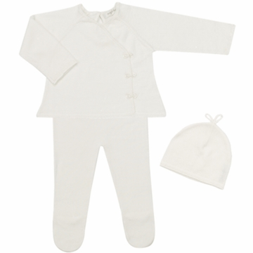 Angel Dear Girl's 3 Piece Take Me Home Set in Ivory - Newborn