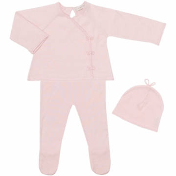 Angel Dear Girl's 3 Piece Take Me Home Set in Baby Pink - Newborn