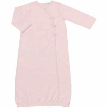 Angel Dear Girl's Take Me Home Gown in Baby Pink - Newborn