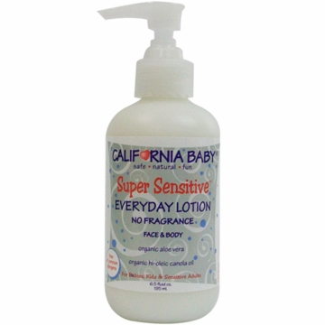 California Baby 021172 Super Sensitive Everyday Lotion with Pump-6.5 oz