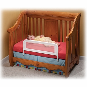 Kidco Convertible Crib Bed Rail White Mesh