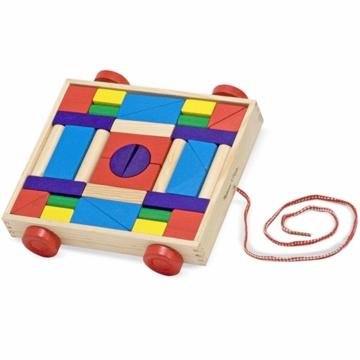 Melissa & Doug Unit Blocks on Wheels
