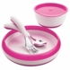 OXO Tot 4 Piece Feeding Set in Pink
