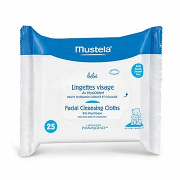 Mustela Facial Cleansing Cloths with Physiobebe 25 ct