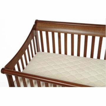 Baby Luxe Natural Cotton Crib Fitted Mattress Pad
