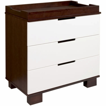 BabyLetto Modo 3 Drawer Changing Table in Espresso White