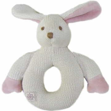 MiYim Organic Teether Knitted Bunny with Pink Ears