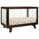 BabyLetto Hudson 3-in-1 Convertible Crib in Two-tone Espresso/White