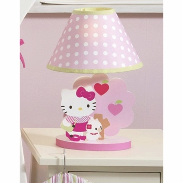 Bedtime Originals Hello Kitty & Puppy Lamp with Shade & Bulb