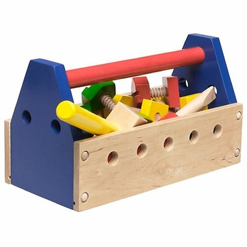 Melissa & Doug Wooden Take Along 24-Piece Tool Kit