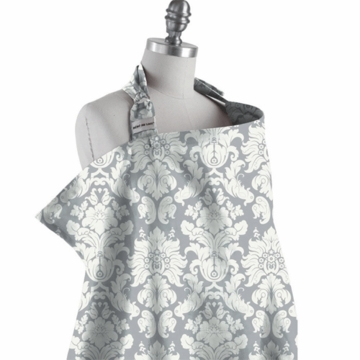 Bebe au Lait Nursing Cover in Chatueau Silver