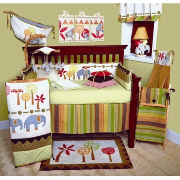 Cotton Tale Elephant Brigade 4 Piece Crib Bedding Set