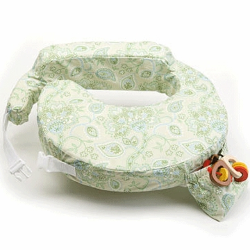 My Brest Friend Wearable Nursing Pillow in Green Paisley