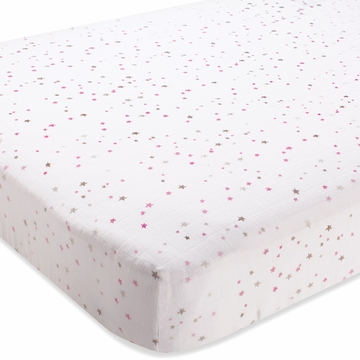 Aden + Anais 100% Cotton Muslin Crib Sheet - Lovely - Starburst