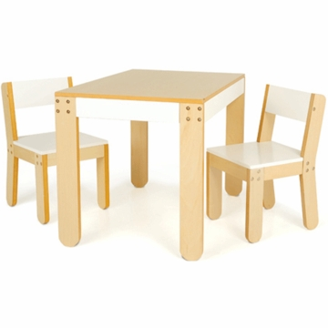 P'kolino Little One's Table & Chairs in White