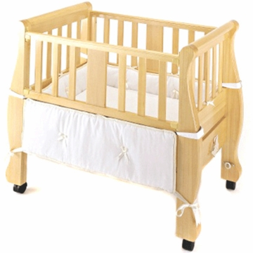 Arms Reach The Co-Sleeper Sleigh Bed Bassinet Natural