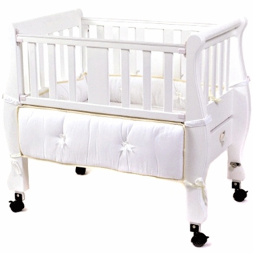 Arms Reach The Co-Sleeper Sleigh Bed Bassinet White