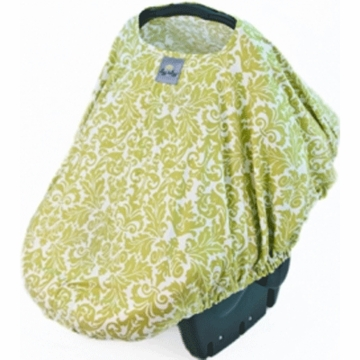 Itzy Ritzy Peek-A-Boo Infant Carrier Pod in Avocado Damask