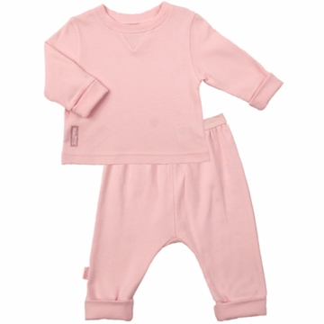 Kushies Baby 2 Piece Set in Pink- 3 Month