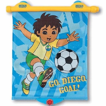 Munchkin Go Diego Go White Hot Sunshade with Yellow Handle