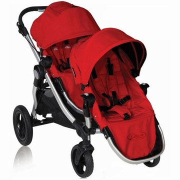 Baby Jogger City Select Stroller with Second Seat Kit in Ruby