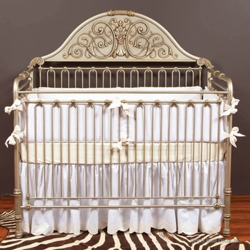 Bratt D�cor Chelsea Collection Iron Lifetime Crib - Antique Silver