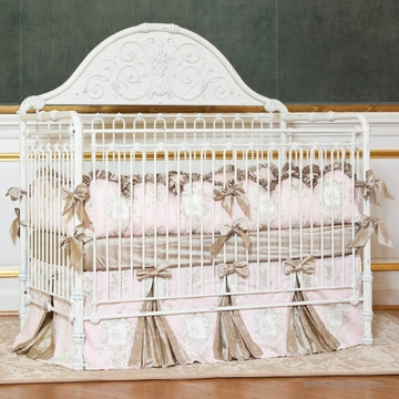 Bratt D�cor Chelsea Collection Iron Lifetime Crib - Distressed White