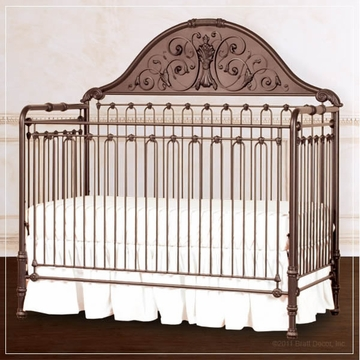Bratt D�cor Chelsea Collection Iron Lifetime Crib - Espresso