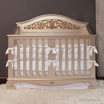 Bratt D�cor Chelsea Collection Lifetime Crib - Antique Silver