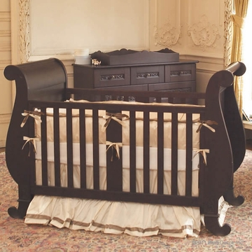 Bratt D�cor Chelsea Collection Sleigh Crib - Espresso