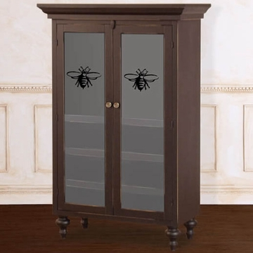 Bratt D�cor Heirloom Iron Collection Classic Armoire Wardrobe - Black
