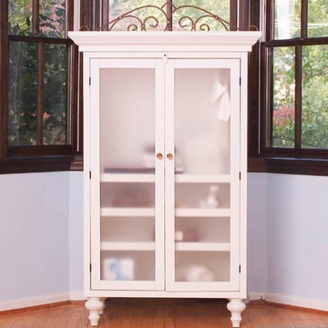 Bratt D�cor Heirloom Iron Collection Classic Armoire Wardrobe - White