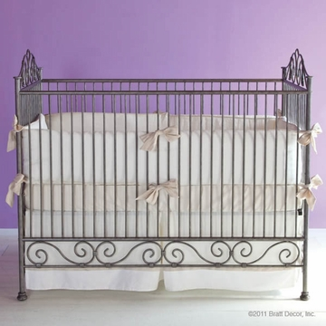 Bratt D�cor Heirloom Iron Collection Casablana Crib - Pewter