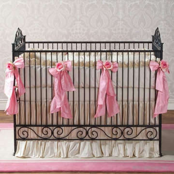 Bratt D�cor Heirloom Iron Collection Casablana Crib - Slate