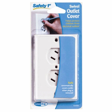 Safety 1st White Swivel Safety Outlet Cover