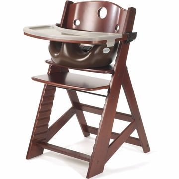 Keekaroo Height Right High Chair & Infant Insert - Mahogany/Chocolate