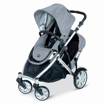 Britax B-Ready Stroller and 2nd Seat In Silver