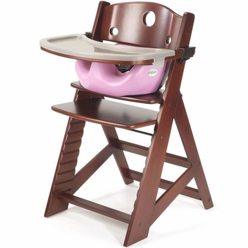 Keekaroo Height Right High Chair & Infant Insert - Mahogany/Lilac