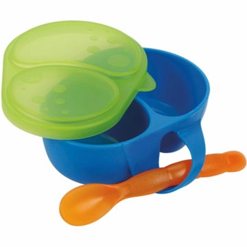 Sassy First Solids Feeding Bowl with Spoon in Blue