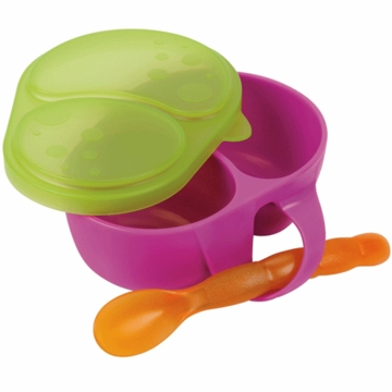 Sassy First Solids Feeding Bowl with Spoon in Purple