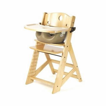 Keekaroo Height Right High Chair & Infant Insert - Natural/Latte