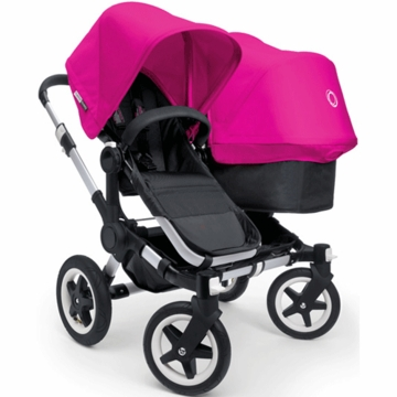 Bugaboo Donkey Duo Stroller in Black/Pink
