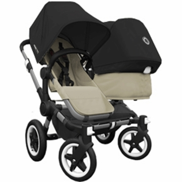 Bugaboo Donkey Duo Stroller in Sand/Black