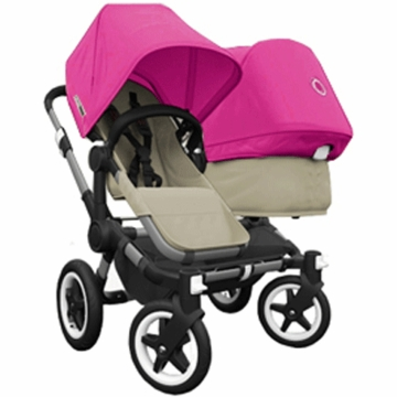 Bugaboo Donkey Duo Stroller in Sand/Pink