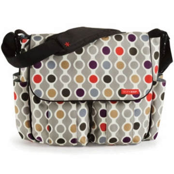 Skip Hop Dash Deluxe Edition Diaper Bag in Wave Dot