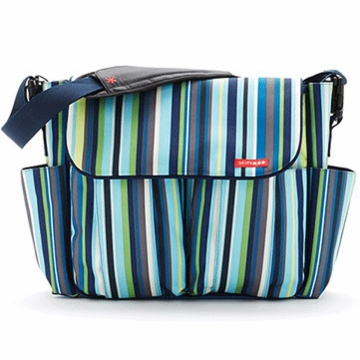 Skip Hop Dash Deluxe Edition Diaper Bag in Ocean Stripe