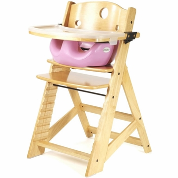 Keekaroo Height Right High Chair & Infant Insert - Natural/Lilac
